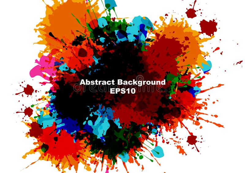 Abstract vector splatter paint color design background. vector splatter isolated background design. illustration vector design stock photography
