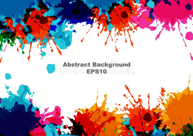 Abstract vector splatter paint color design background. vector splatter isolated on white background design. illustration vector royalty free illustration