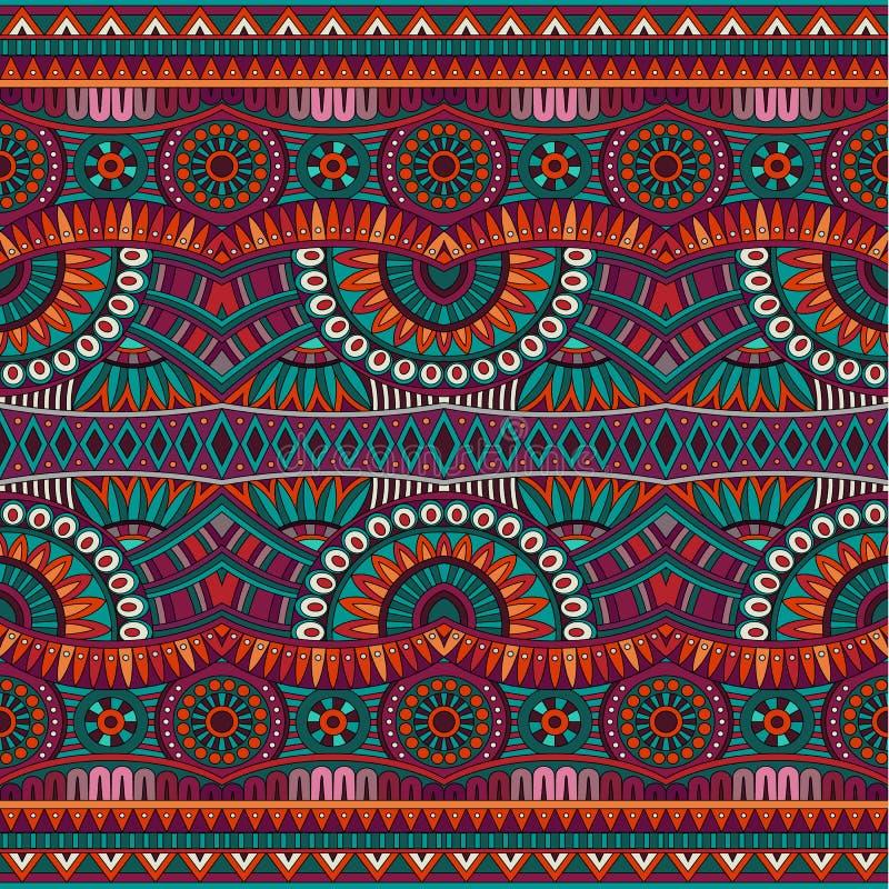 Abstract vector stammen etnisch naadloos patroon royalty-vrije illustratie