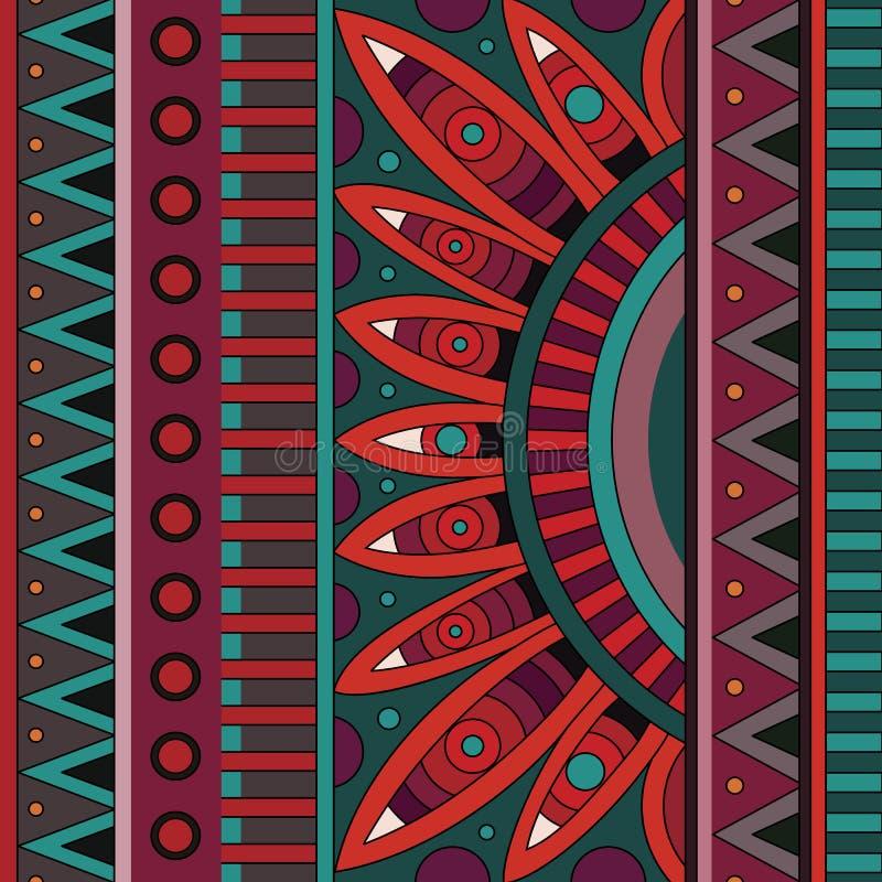 Abstract vector stammen etnisch patroon als achtergrond royalty-vrije illustratie