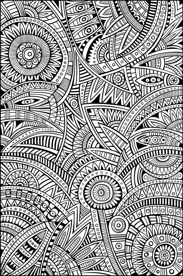 Abstract vector stammen etnisch patroon als achtergrond vector illustratie