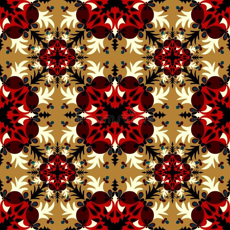 Abstract vector stammen etnisch patroon als achtergrond stock illustratie