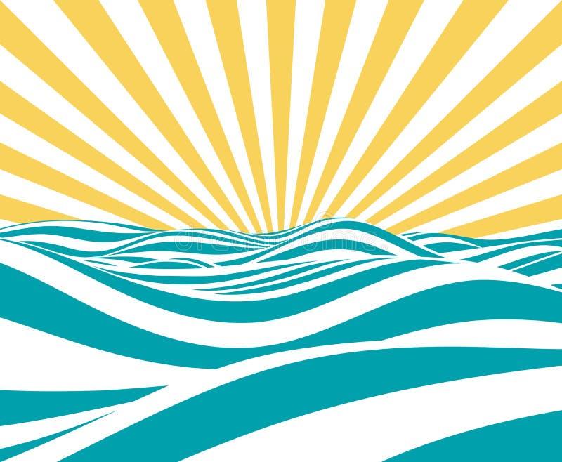 Abstract Vector Summer royalty free illustration
