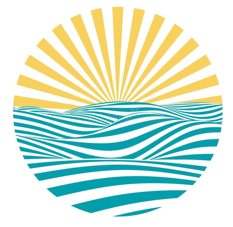 Vector summer emblem stock illustration