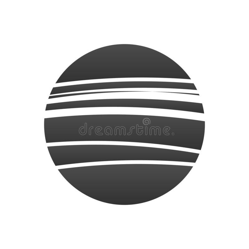 Abstract vector sun or circle logo. Logotype for Business, Corporation, Technology. Sun with stripes. vector illustration