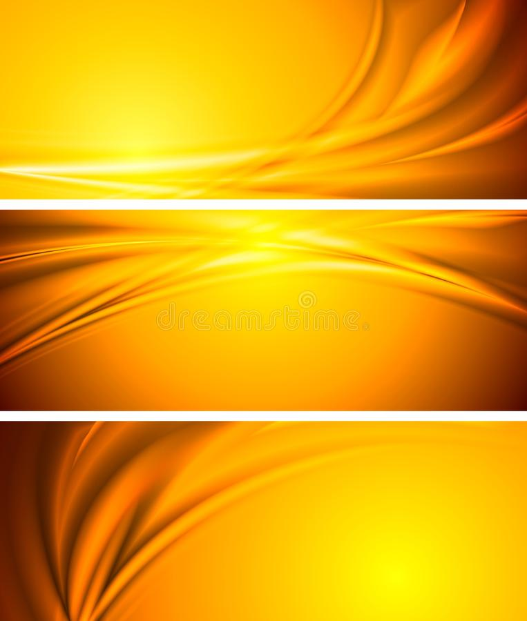 Abstract vector sunny banners vector illustration