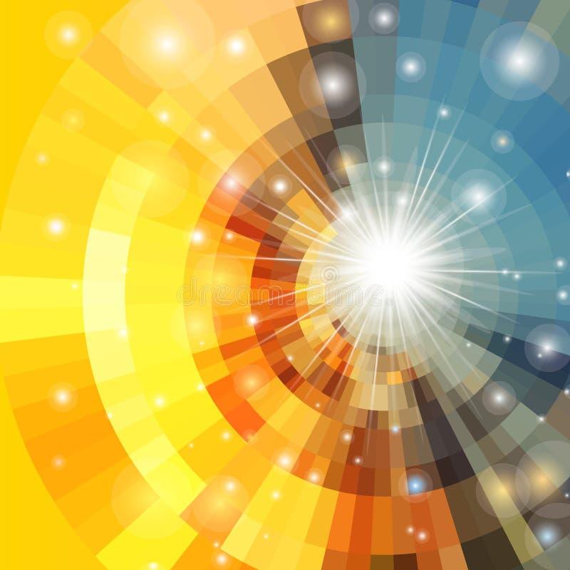Abstract vector sunrise circle vector illustration