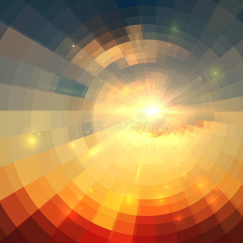 Abstract vector sunrise circle technology vector illustration