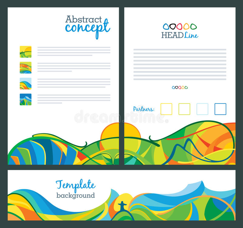 Abstract vector template design. Travel concept banners. royalty free illustration