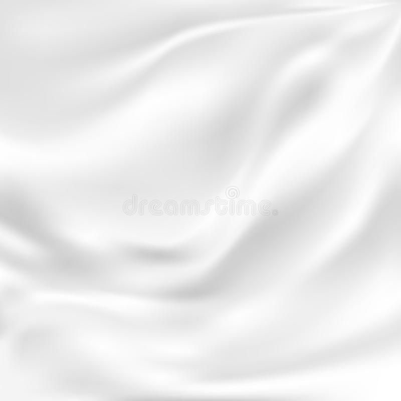 Abstract Vector Texture, White Silk. White Silk Fabric for Drapery Abstract Background, Mesh Vector Illustration vector illustration