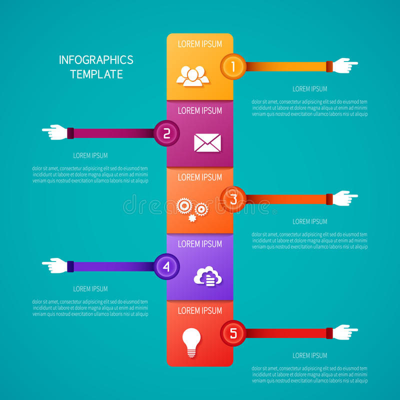 Abstract vector timeline infographic template in flat style for layout workflow scheme, numbered options, chart or diagram.  stock illustration