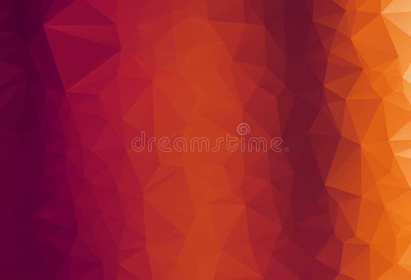 Abstract vector trendy orange triangular pattern. Modern polygonal background. Colorful mosaic.  royalty free illustration
