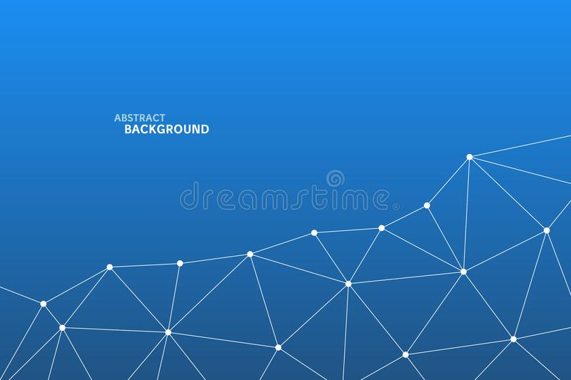 Abstract vector triangle pattern. Geometric polygonal network background. Infographic illustration for business project, template royalty free illustration