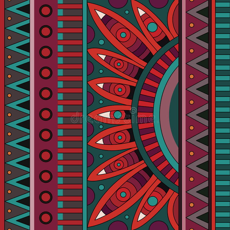 Download Abstract Vector Tribal Ethnic Background Pattern Stock Vector - Image: 39920904