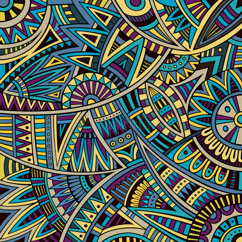 Abstract Vector Tribal Ethnic Background Pattern Stock Vector