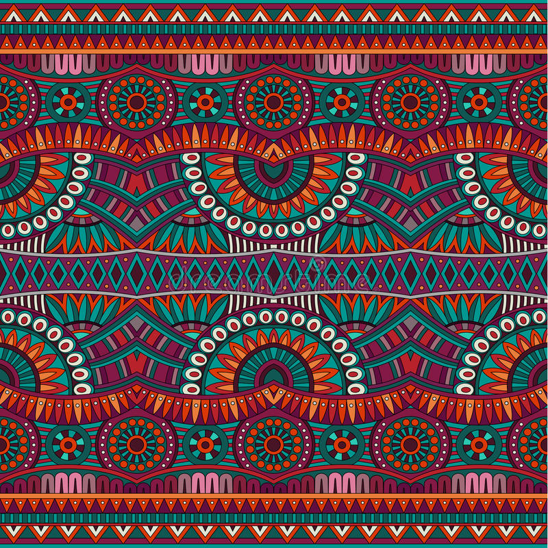 Abstract vector tribal ethnic seamless pattern royalty free illustration