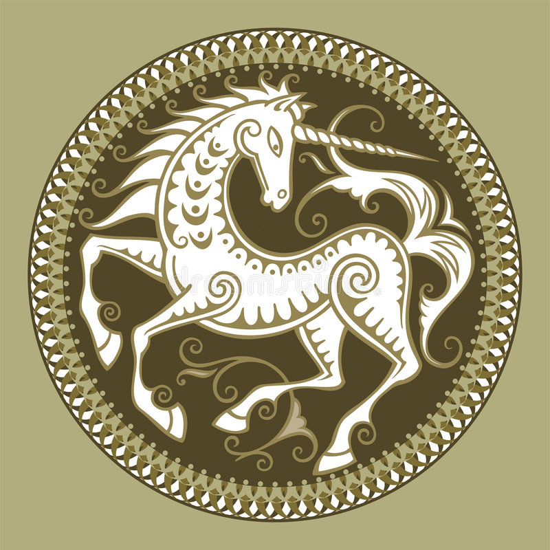 Abstract vector unicorn royalty free stock photography