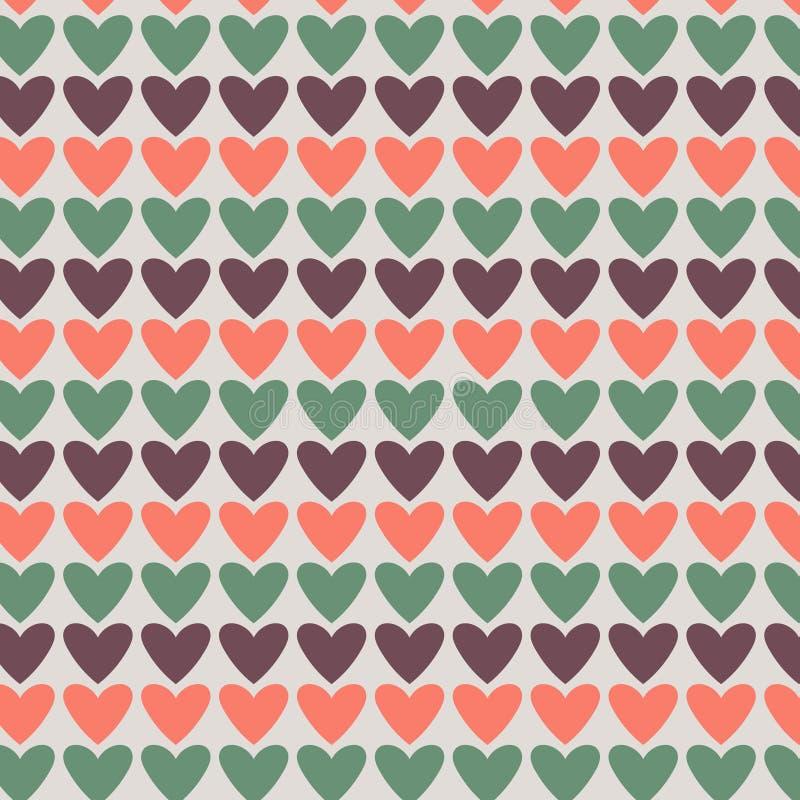 Abstract vector van de hartenfantasie ontwerp als achtergrond royalty-vrije illustratie