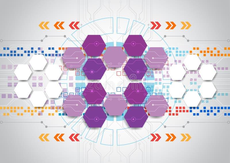 Abstract vector van de techniektechnologie ontwerp als achtergrond royalty-vrije illustratie