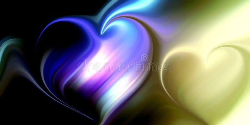 Abstract vector van het hartonduidelijke beeld behang als achtergrond vector illustratie