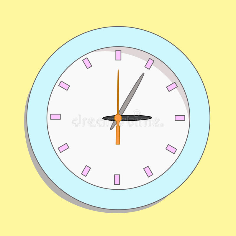 Abstract vector watch. stock photography