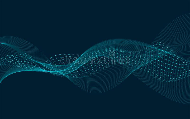 Vector Wave Bacground vector illustration