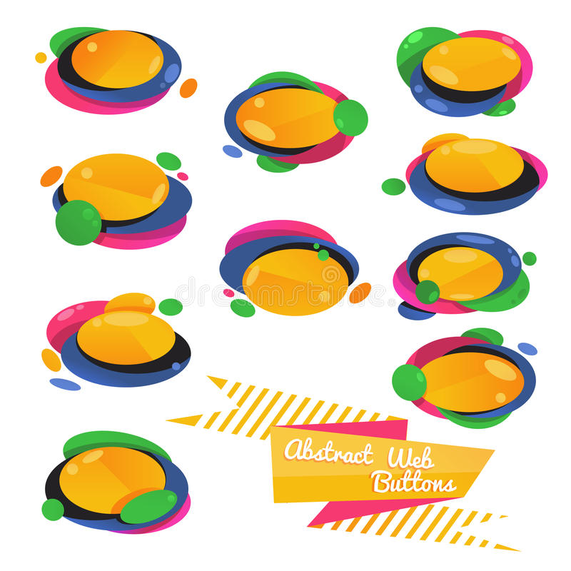 Free Abstract Vector Web Buttons Royalty Free Stock Images - 68541749