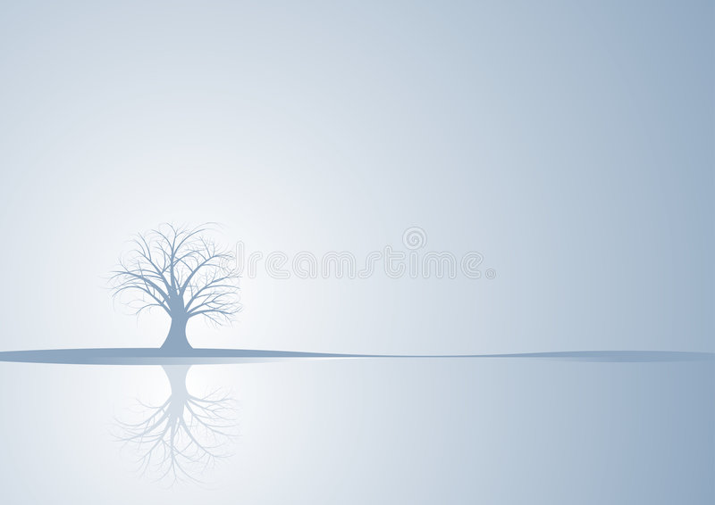 Abstract vector winter tree royalty free stock photography