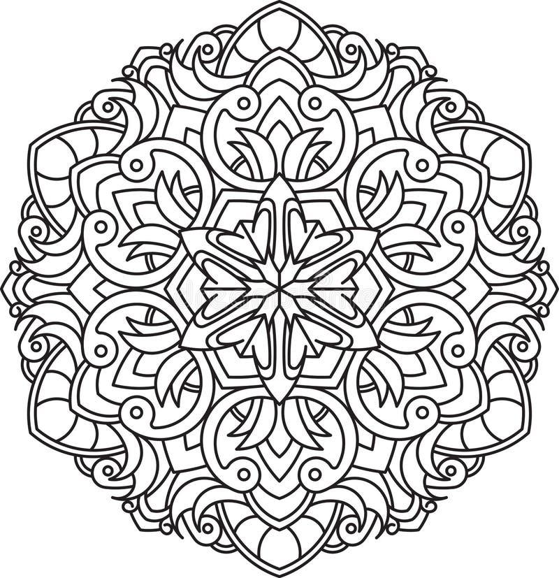 Abstract vector zwart rond kantontwerp in monolijnstijl - mens vector illustratie