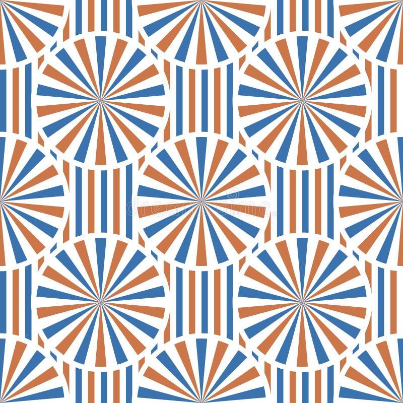 Abstract vectorcirkels naadloos patroon royalty-vrije illustratie