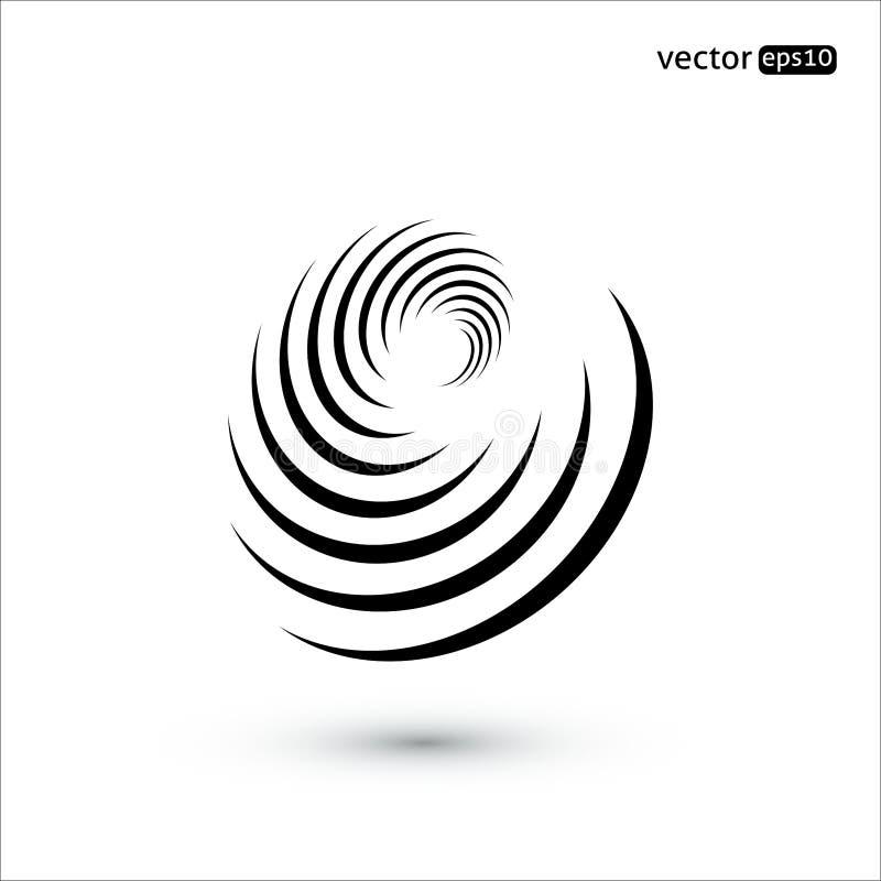 Abstract vectorcirkelteken Trechterconcept stock illustratie
