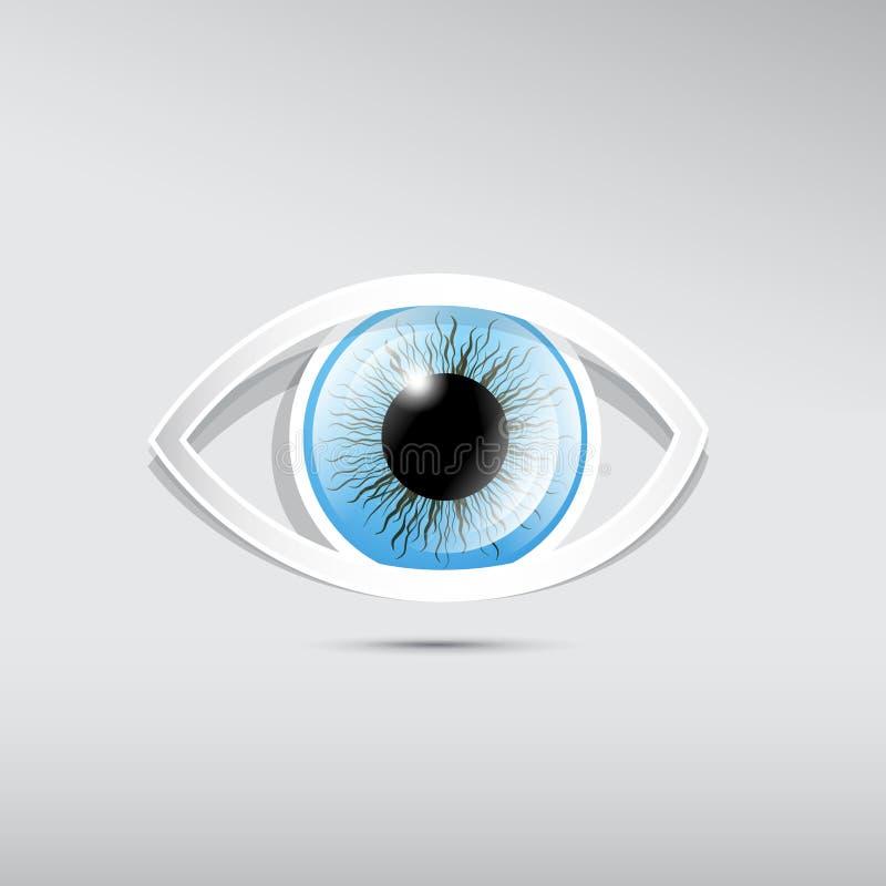 Abstract vectordocument blauw oog royalty-vrije illustratie