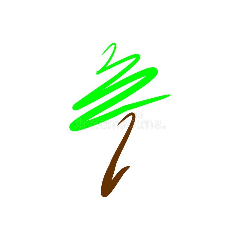 Abstract vectorembleemontwerp voor boom, aard, tuinen Vector illustratie stock illustratie