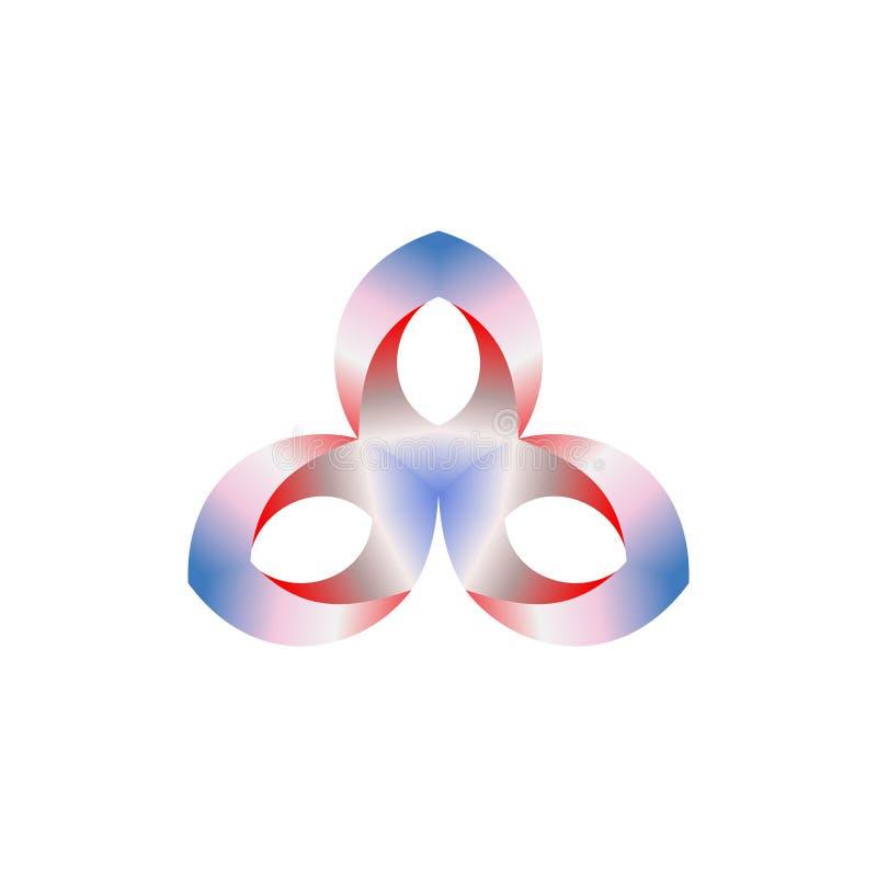 Abstract vectorembleemontwerp voor zaken, de industrieën, mensen enz. Vector illustratie royalty-vrije illustratie