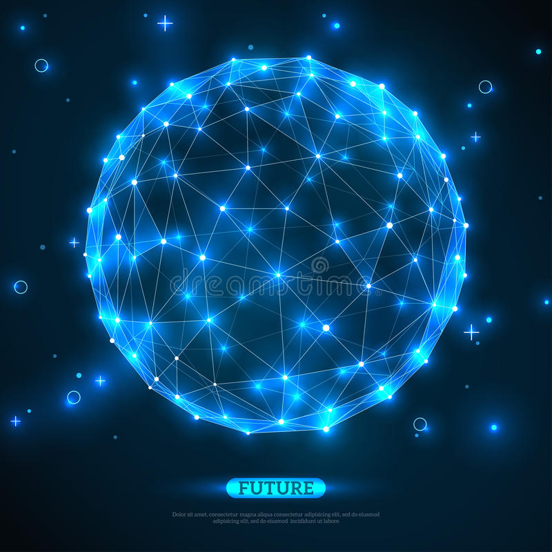Abstract vectorgebied Futuristische Technologie royalty-vrije illustratie