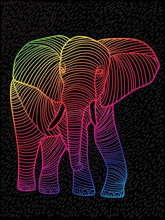 Abstract vectorkunstspectrums gevoerd ontwerp stock illustratie