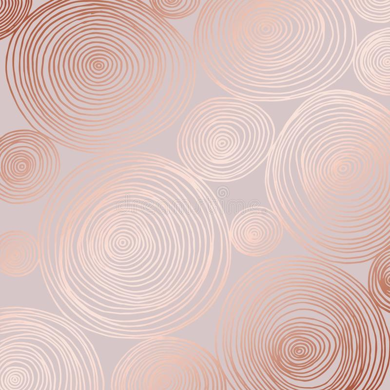 Abstract vectorpatroon met roze gouden imitatie Decoratieve achtergrond voor het ontwerp stock illustratie