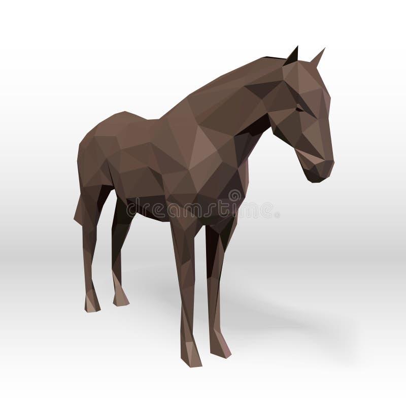 Abstract veelhoekig paard royalty-vrije illustratie