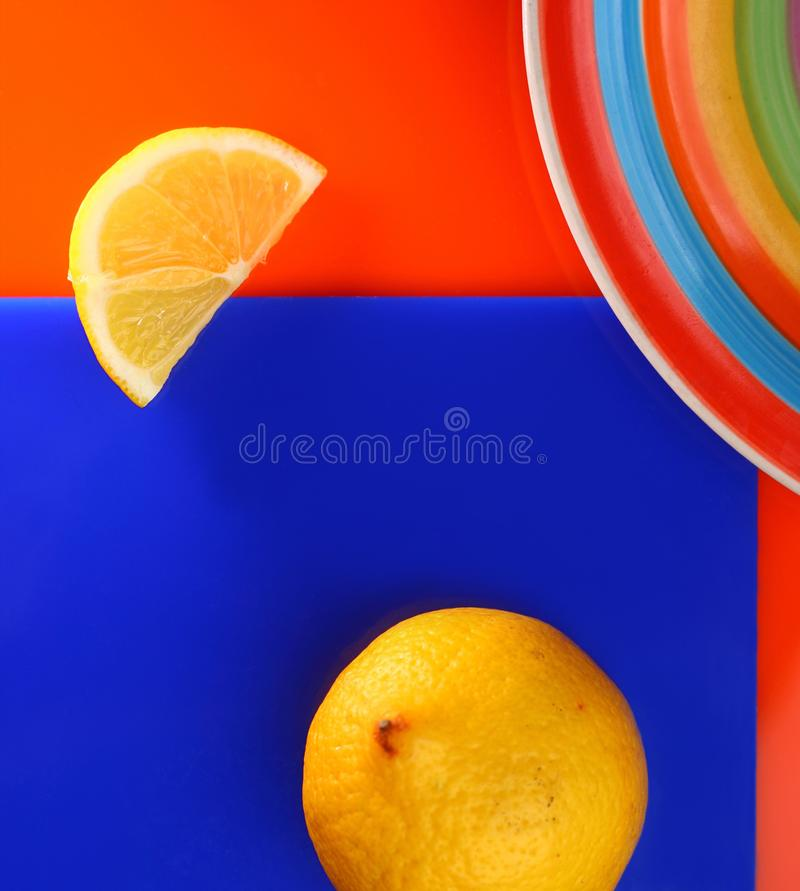 Abstract veelkleurig geometrisch stilleven, minimalism stock foto