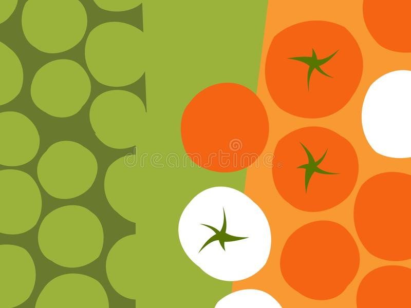 Abstract vegetable design. Rows of tomatoes. royalty free illustration