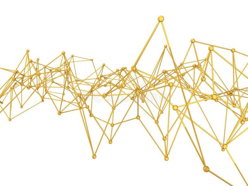 Abstract verbindingennetwerk vector illustratie