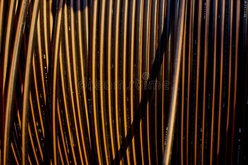 Abstract vertical cable wire. Background royalty free stock photos