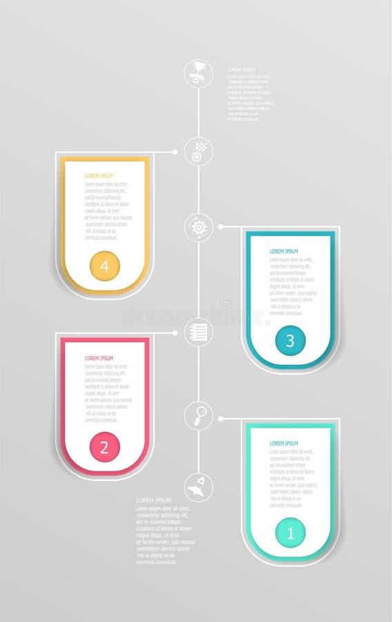 Abstract vertical timeline infographic element background. Vector illustration stock illustration
