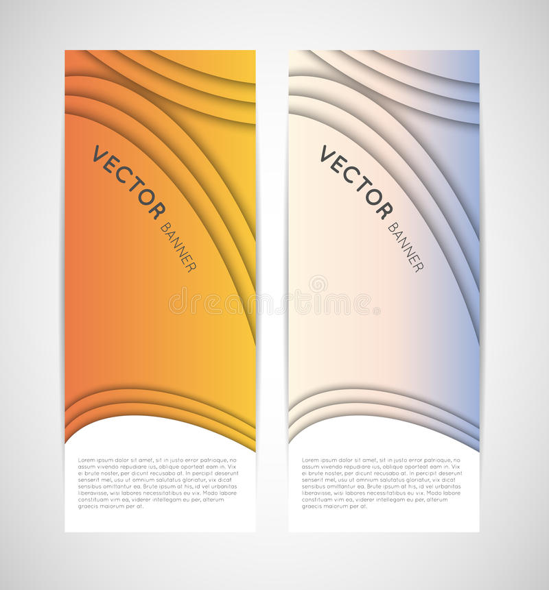 Free Abstract Vertical Vector Banners Royalty Free Stock Images - 30583049