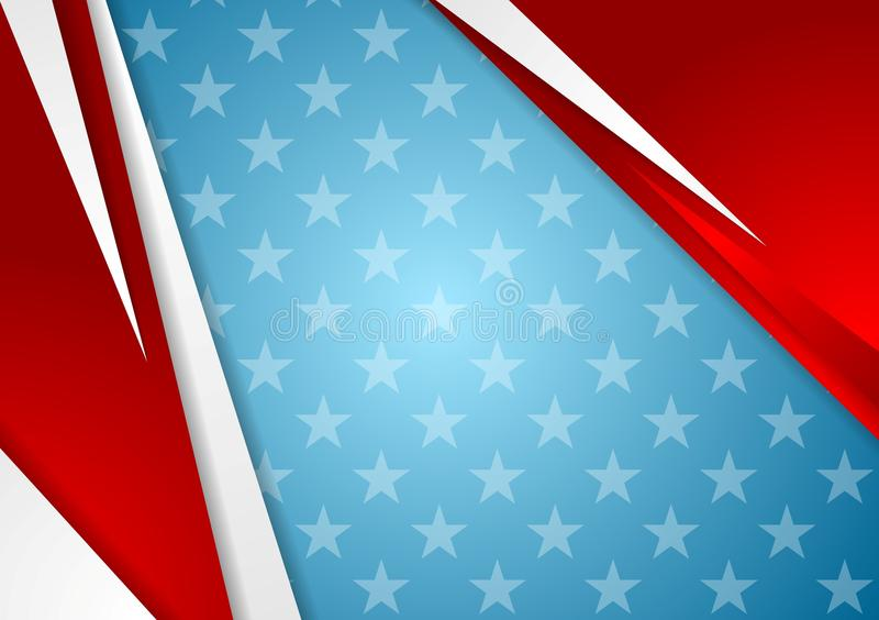 Abstract Veterans Day background stock illustration