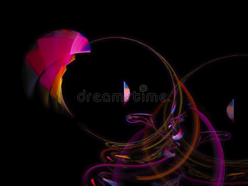 Abstract vibrant digital overlay shine fantasy cybernetic design texture futuristic fractal pattern. Abstract fractal digital background vibrant futuristic stock illustration
