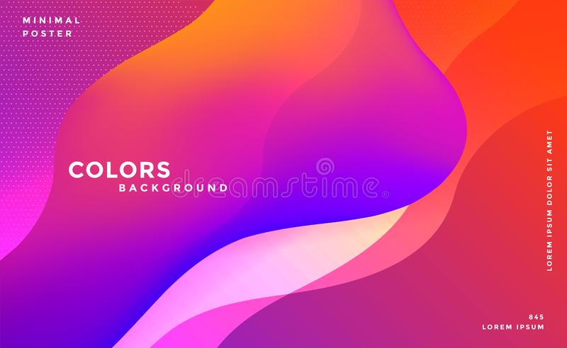 Abstract vibrant fluid colors background vector illustration