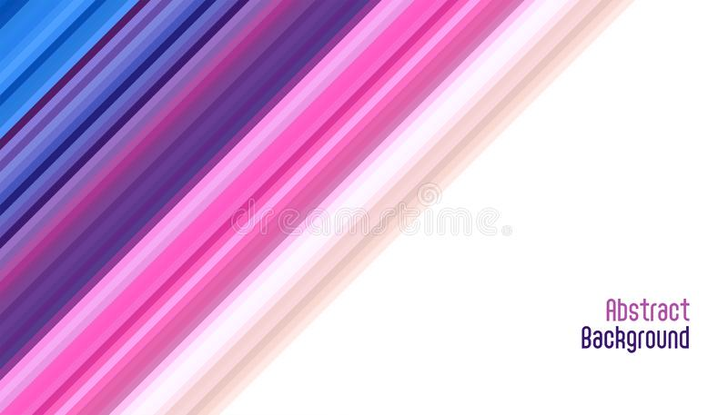 Abstract vibrant smooth diagonal lines background design royalty free illustration