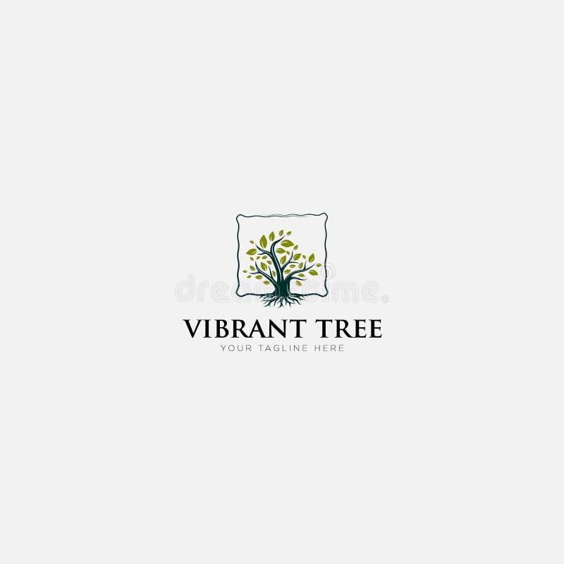 Free Abstract Vibrant Tree Logo Design Root Viking Tree Life Royalty Free Stock Photography - 162030507