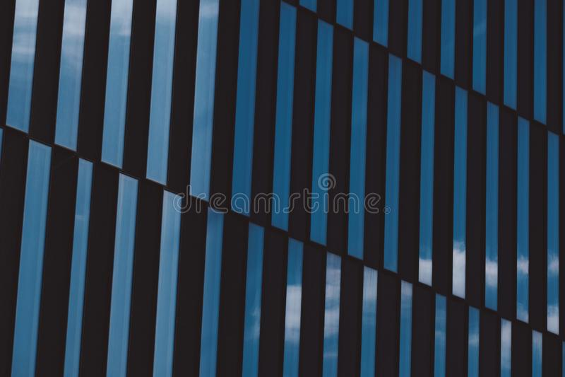 Abstract view of modern highrise glass building royalty free stock images